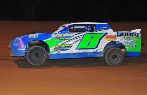 Mike Lane of Pace, FL drove the Lane's Vinyl Siding Chevrolet to victory on Saturday night at Southern Raceway in Milton, FL in the NeSmith Performance Parts Street Stock Division Presented By AR Bodies main event.  (Photo Phil Photo)