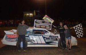 Calvin Cook of Pace, FL topped a 31-car field on Friday night at Hattiesburg Speedway in Hattiesburg, MS to take the $1,000 top prize and a $500 Bonus for being the leader at the halfway point in the Dixie 50 co-sanctioned by the NeSmith/AR Bodies Street Stock Division and the Mississippi Street Stock Series.  Cook drove the Reed's Metals Chevrolet powered by a $3,295 Chevrolet Performance 602 Circle Track Engine to his second win of the season.  (MSSS Photo)