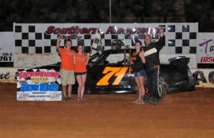 Stuart Wilson of Milton, FL picked up his third NeSmith/AR Bodies Street Stock Division win of the season on Saturday night at Southern Raceway in Milton, FL driving the #71 Wilson Lumber Chevrolet powered by a Chevrolet Performance 602 Circle Track Engine. (Photo By Phil)
