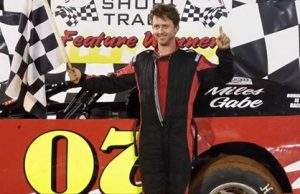 The 2011 NeSmith Chevrolet Weekly Racing Series East Region Champion Jimmy Elkins Jr. of Talladega, AL took his first win of the season on Saturday night at Talladega Short Track in Eastaboga, AL driving the #07 Lostalot Racing Special.  (Talladega Short Track Photo)
