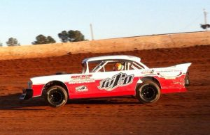 "The defending NeSmith/AR Bodies Street Stock Division National Champion Jeremy Idom of Hattiesburg, MS is still looking for his first win of the 2015 season going into Week 5 competition this weekend driving the #WFO ""Throwback"" 1957 Chevrolet.  (NeSmith Media File Photo)"