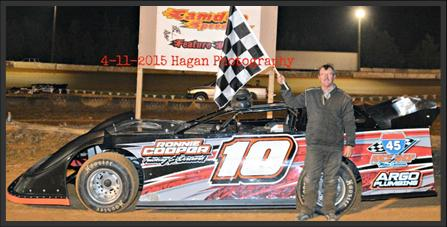 Ronnie Cooper of McKenzie, TN will be looking for his second straight NeSmith Chevrolet Weekly Racing Series win in Week 4 competition after taking the NeSmith Late Model victory in the season opener last Saturday night at Camden Speedway in Camden, TN driving the Ronnie Cooper Trucking Rocket.  (Camden Speedway Photo)