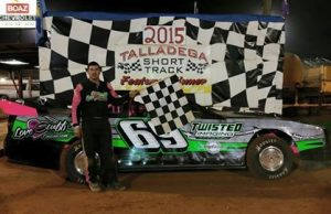 Richie Stephens of Salem, AL drove the Rocketman Race Cars Chevrolet powered by a $3,495 Chevrolet Performance 602 Circle Track Engine to victory on Saturday night at in the NeSmith Performance Parts Street Stock Division feature race Presented by AR Bodies at Talladega Short Track in Eastaboga, AL.  The win put Stephens on top of the NeSmith/AR Bodies Street Stock Division standings after Week 3 competition with 140 points after one win, and two top five finishes in three races.  (Talladega Short Track Photo)