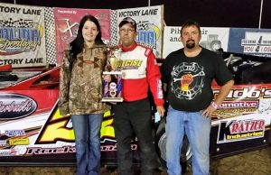 Chris Kratzer of Haysville, KS was the NeSmith Chevrolet Weekly Racing Series Late Model winner on Friday night at Salina Speedway in Salina, KS driving the #55 Wichita Tire and Alignment Special.  (Salina Speedway Photo)