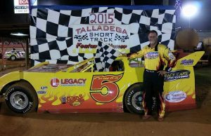 Mike Combs of Odenville, AL captured his first NeSmith Chevrolet Weekly Racing Series win of the season on Saturday night at Talladega Short Track IN Eastaboga, AL driving the #5 Pro Grafx Special.  (TST Photo)