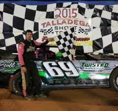 NeSmith/AR Bodies Street Stock Division point leader Richie Stephens of Salem, AL will be at two special events on Thursday night, July2 for a $750-to-win race at Talladega Short Track in Eastaboga, AL and on Friday night, July 3 at Penton Raceway in Penton, AL for a $500-to-win race as a part of the Salute To America Nationals for the NeSmith Chevrolet Dirt Late Model Series.  Stephens has driven the #69 Rocketman Race Cars Chevrolet powered by a $3,495 Chevrolet Performance 602 Circle Track Engine to five wins this season at Talladega Short Track.  (TST Photo)