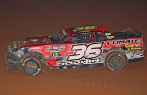 Sean Goodwin of Pensacola, FL picked up his third NeSmith/AR Bodies Street Stock Division win of the 2015 season last Saturday night driving the #36 Climate Control of Pensacola Chevrolet at Flomaton Speedway in Flomaton, AL in a $1,000-to-win race co-sanctioned by the Mississippi Street Stock Series.  For the second straight week, Flomaton Speedway will offer up $1,000-to-win for the NeSmith/AR Bodies Street Stock Division.  (Backwoods Photography)