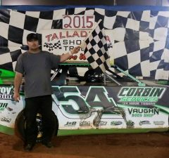 Clint Vaughn of Odenville, AL drove the #54 Bosma Farms Chevrolet powered by a $3,495 Chevrolet Performance 602 Circle Track Engine to his third NeSmith/AR Bodies Street Stock Division win of the season on Saturday night at Talladega Short Track in Eastaboga, AL.  (TST Photo)