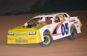 Bo Bailey of Milton, FL is fifth in the NeSmith Performance Parts Street Stock Division standings with a best 14 week total of 670 points driving the #05 L&L Construction Services Chevrolet.  Bailey will be trying to stay in the fifth spot during the 27th and final week of the season by trying to net on a 46.  That means Bailey has to finish fourth or better to increase his season point total.  NeSmith Performance Parts Street Stock Division point fund-paying positions fifth through tenth will be decided this Saturday night in Week 27 competition among nine drivers.  (NeSmith Media Photo)