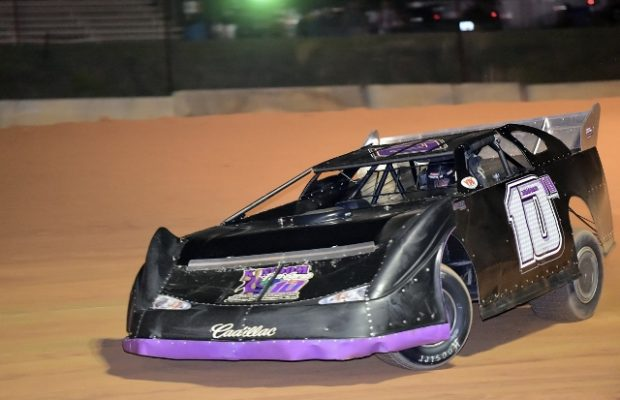 Joseph Joiner of Milton, FL drove the #10 Three Trade Consultants Special to his third NeSmith Panhandle Challenge Series win of the season on Saturday night at Southern Raceway in Milton, FL and also took the 2015 Series Championship.  (NeSmith Media Photo)