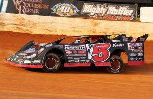 National Dirt Late Model Hall of Fame Inductee Ronnie Johnson of Chattanooga, TN will be at Bubba Raceway Park in Ocala, FL this Friday and Saturday nights for the $10,000=to-win 100-lap 11th Annual Chevrolet Performance World Championship Race.  Johnson will write another record-breaking chapter of his 40-year career.  During qualifying on Friday night, all Johnson has to do is complete one of two laps and he will clinch the $10,000 2015 NeSmith Chevrolet Dirt Late Model Series National Championship.  When that white flag falls over the Chattanooga Flash on his qualifying run, in addition to signaling to him he has one more lap on the clock, but it will also mark his unprecedented third consecutive NeSmith Chevrolet Dirt Late Model Series National Championship.  In the first ten years of the series' history, no driver has won three titles, let alone three straight titles.  (NeSmith Media Photo)