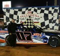 Steve Pate of Heflin, AL has taken over the NeSmith Performance Parts Street Stock Division point lead after driving the #07 Pate Racing Chevrolet powered by a $3,495 Chevrolet Performance 602 Circle Track Engine to his fourth win of the season on Saturday night at Talladega Short Track in Eastaboga, AL. (TST Photo)
