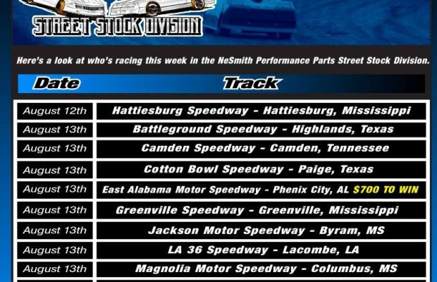 NeSMITH PERFORMANCE PARTS STREET STOCK DIVISION WEEK 21 PREVIEW