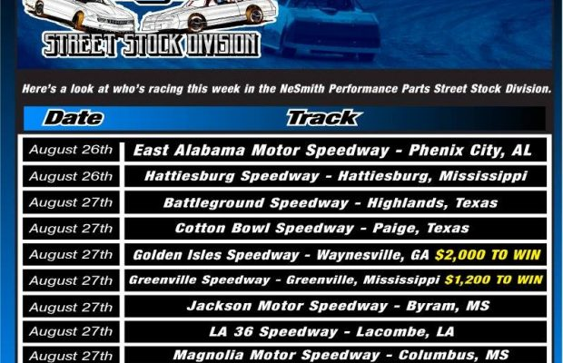 NeSMITH PERFORMANCE PARTS STREET STOCK DIVISION WEEK 23 PREVIEW