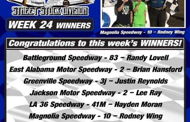 NeSMITH PERFORMANCE PARTS STREET STOCK DIVISION WEEK 24 ROUND UP