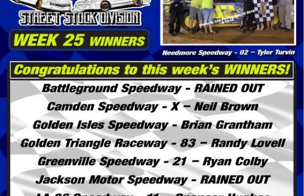 NeSMITH PERFORMANCE PARTS STREET STOCK DIVISION WEEK 25 ROUND UP