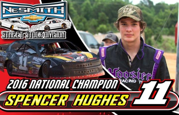 15-YEAR OLD SPENCER HUGHES CLAIMS NESMITH STREET STOCK NATIONAL CHAMPIONSHIP