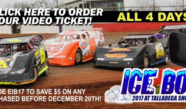 26th ANNUAL ICE BOWL AT TALLADEGA SHORT TRACK AVAILABLE ON PAY-PER-VIEW